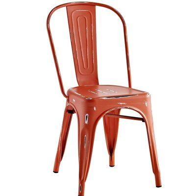 Ashlyn Metal Side Chair Finish: Red