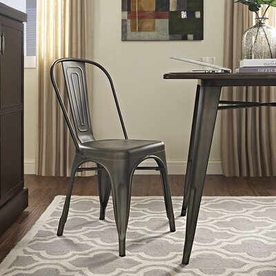 Ashlyn Metal Side Chair Finish: Brown