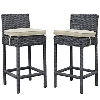Summon 28 Bar Stool Upholstery: Beige