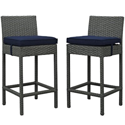 Sojourn 27.5 Bar Stool Upholstery: Navy