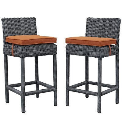 Summon 28 Bar Stool Upholstery: Tuscan