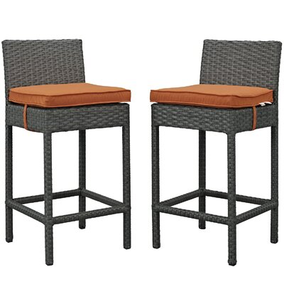 Sojourn 27.5 Bar Stool Upholstery: Tuscan