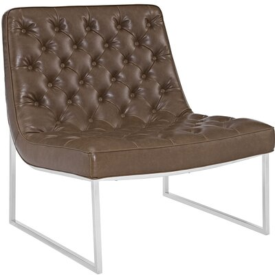 Ibiza Memory Foam Lounge Chair Color: Brown