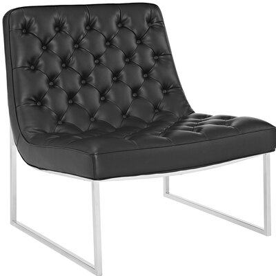 Ibiza Memory Foam Lounge Chair Upholstery: Black