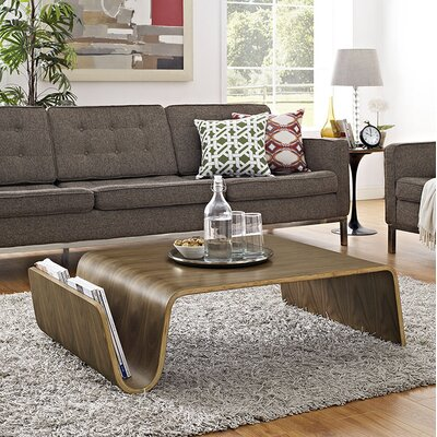 Polaris Coffee Table with Magazine Rack Size: 11.5 H x 41.5 W x 27.5 D