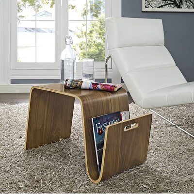 Polaris Coffee Table with Magazine Rack Size: 14 H x 28 W x 15.5 D