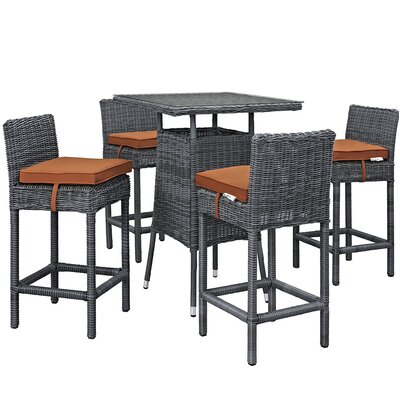 Summon Bar Height Dining Set Cushion Cushion 324 Product Photo