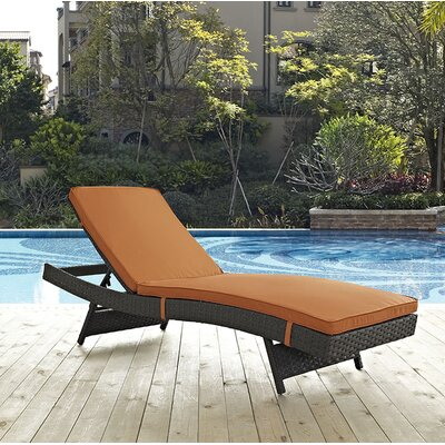 Sojourn Chaise Lounge with Cushion Fabric: Tuscan