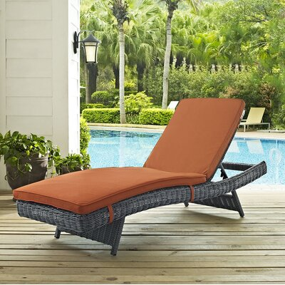 Summon Chaise Lounge with Cushion Fabric: Tuscan