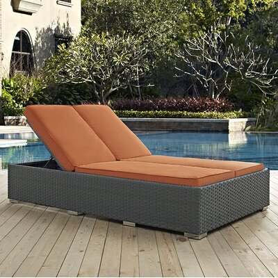 Sojourn Double Chaise Lounge with Cushion Fabric: Tuscan