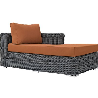 Summon Right Arm Chaise Sectional Piece with Cushions Fabric: Tuscan