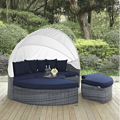 Summon Daybed with Cushions Fabric: Navy