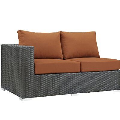 Sojourn Left Arm Loveseat Sectional Piece with Cushions Fabric: Tuscan