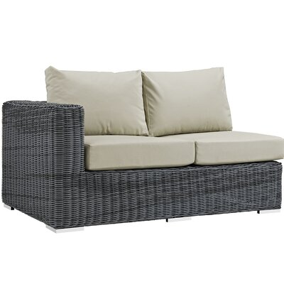 Summon Left Arm Loveseat Sectional Piece with Cushions Fabric: Antique Beige