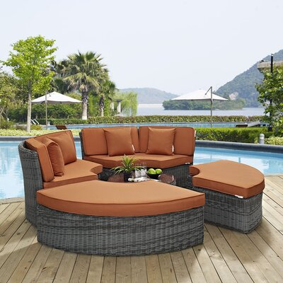 Summon Daybed with Cushions Fabric: Tuscan