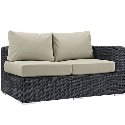 Summon Loveseat with Cushions Upholstery: Antique Beige
