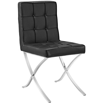 Trieste Memory Foam Side Chair Color: Black