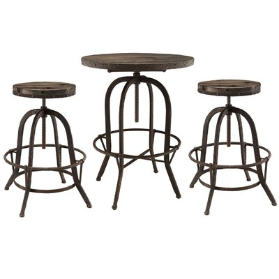 Sylvan 3 Piece Pub Table Set Finish: Brown