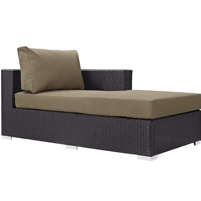 Ryele Right Arm Chaise Sectional Piece with Cushions Fabric: Mocha