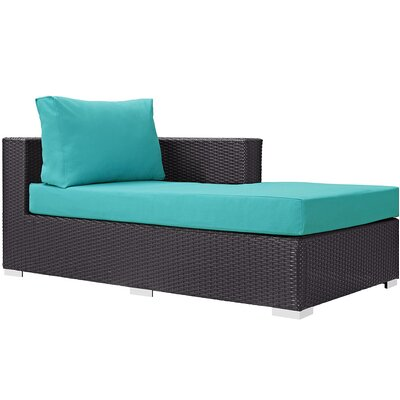 Ryele Right Arm Chaise Sectional Piece with Cushions Fabric: Turquoise