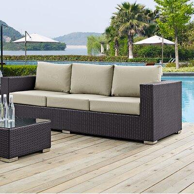 Ryele Sofa with Cushions Fabric: Beige