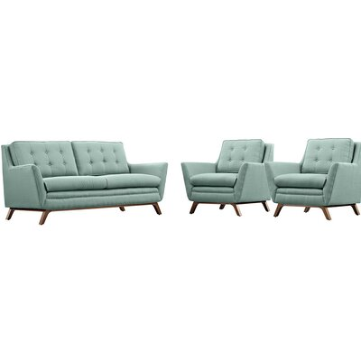 Beguile 3 Piece Living Room Set Upholstery: Laguna