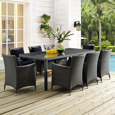 Sojourn 9 Piece Dining Set