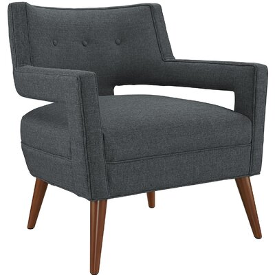 Sheer Arm Chair Upholstery: Gray