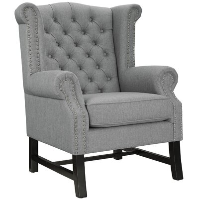 Steer Wing back Chair Upholstery: Azure