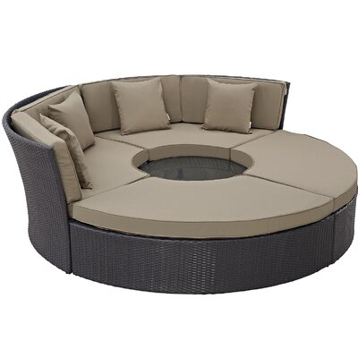 Ryele Circular 5 Piece Deep Seating Group with Cushion Fabric: Mocha