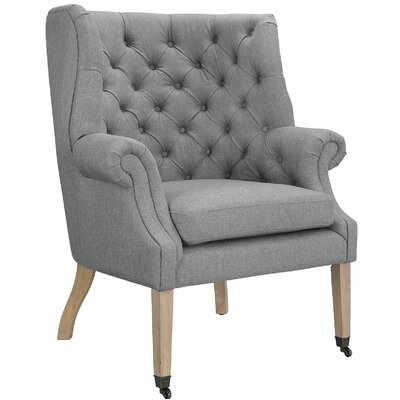 Chart Arm Chair Upholstery: Light Gray
