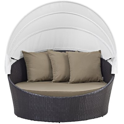 Samuel Canopy Outdoor Patio Daybed EEI-2175-EXP-ORA