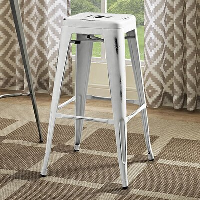Ashlyn 30 Bar Stool Finish: White