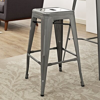 Promenade 26 Bar Stool Finish: Gunmetal