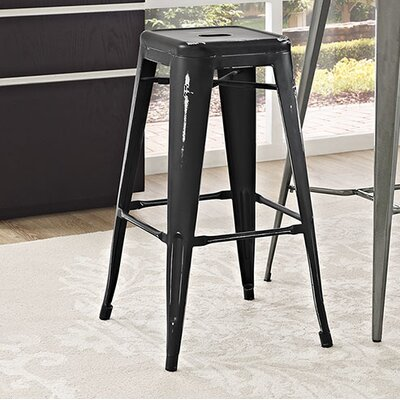Ashlyn 30 Bar Stool Finish: Black