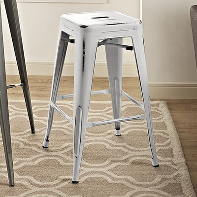 Ashlyn 26 Bar Stool Finish: White