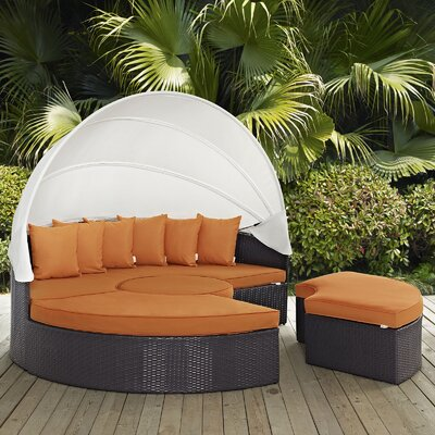 Ryele Daybed with Cushions Fabric: Orange