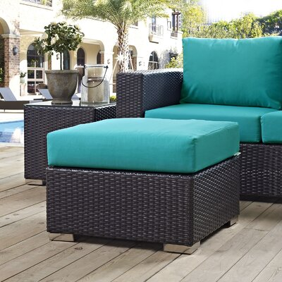 Ryele Ottoman with Cushion Fabric: Turquoise