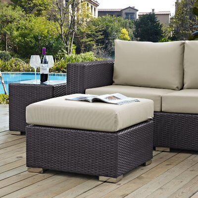 Ryele Ottoman with Cushion Fabric: Beige