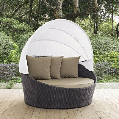Ryele Canopy Outdoor Patio Daybed with Cushions LDER2757 41988172