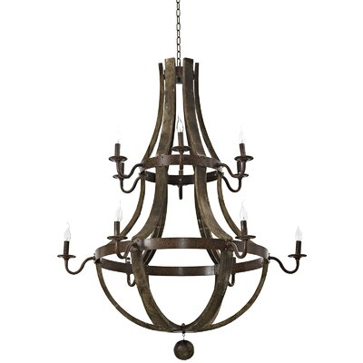 Trebuchet 12-Light Candle-Style Chandelier