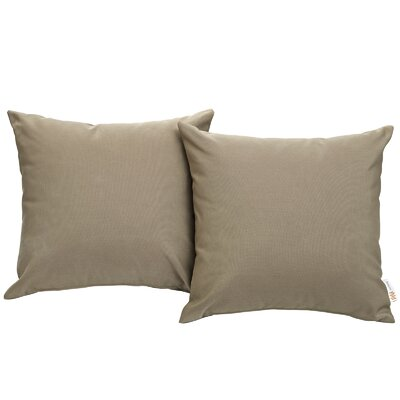 Ryele Outdoor Throw Pillow Color: Mocha