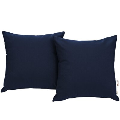 Summon Outdoor Sunbrella Throw Pillow Color: Navy