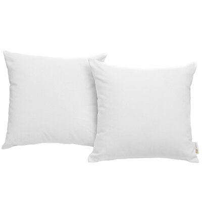 Ryele Outdoor Throw Pillow Color: White