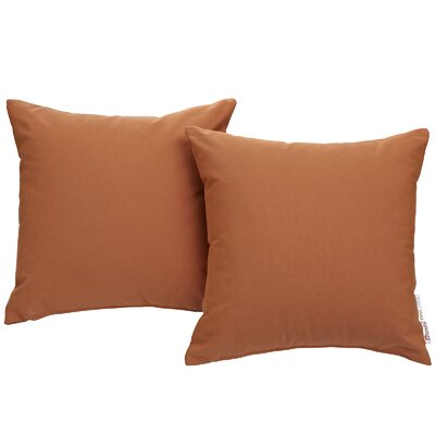 Summon Outdoor Sunbrella Throw Pillow Color: Tuscan