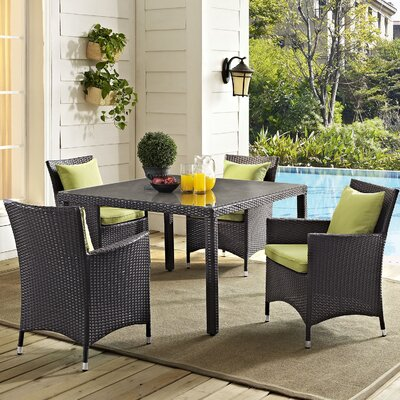 Ryele 5 Piece Dining Set Finish: Peridot