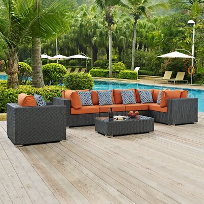 Sojourn 7 Piece Deep Seating Group Fabric: Tuscan