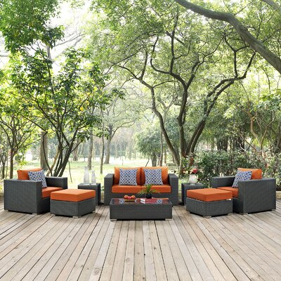 Sojourn 8 Piece Deep Seating Group Fabric: Tuscan