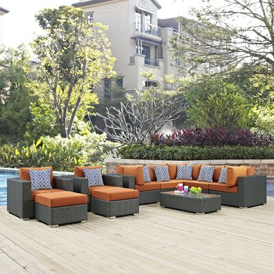 Sojourn 10 Piece Deep Seating Group Fabric: Tuscan