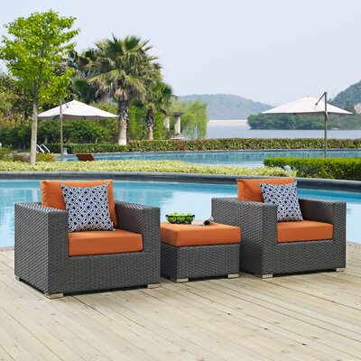 Sojourn 3 Piece Deep Seating Group Fabric: Tuscan